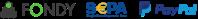 Bezpečná online platba SEPA a kartami pomocou platobnej brány FONDY a PayPAl